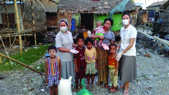 Le suore Salesiane di Hlaing Thar Yar in Myanmar