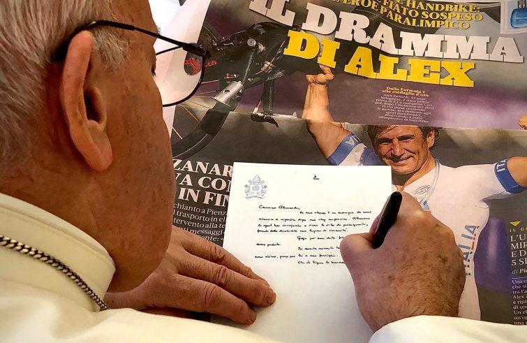 Papa. lettera a Zanardi