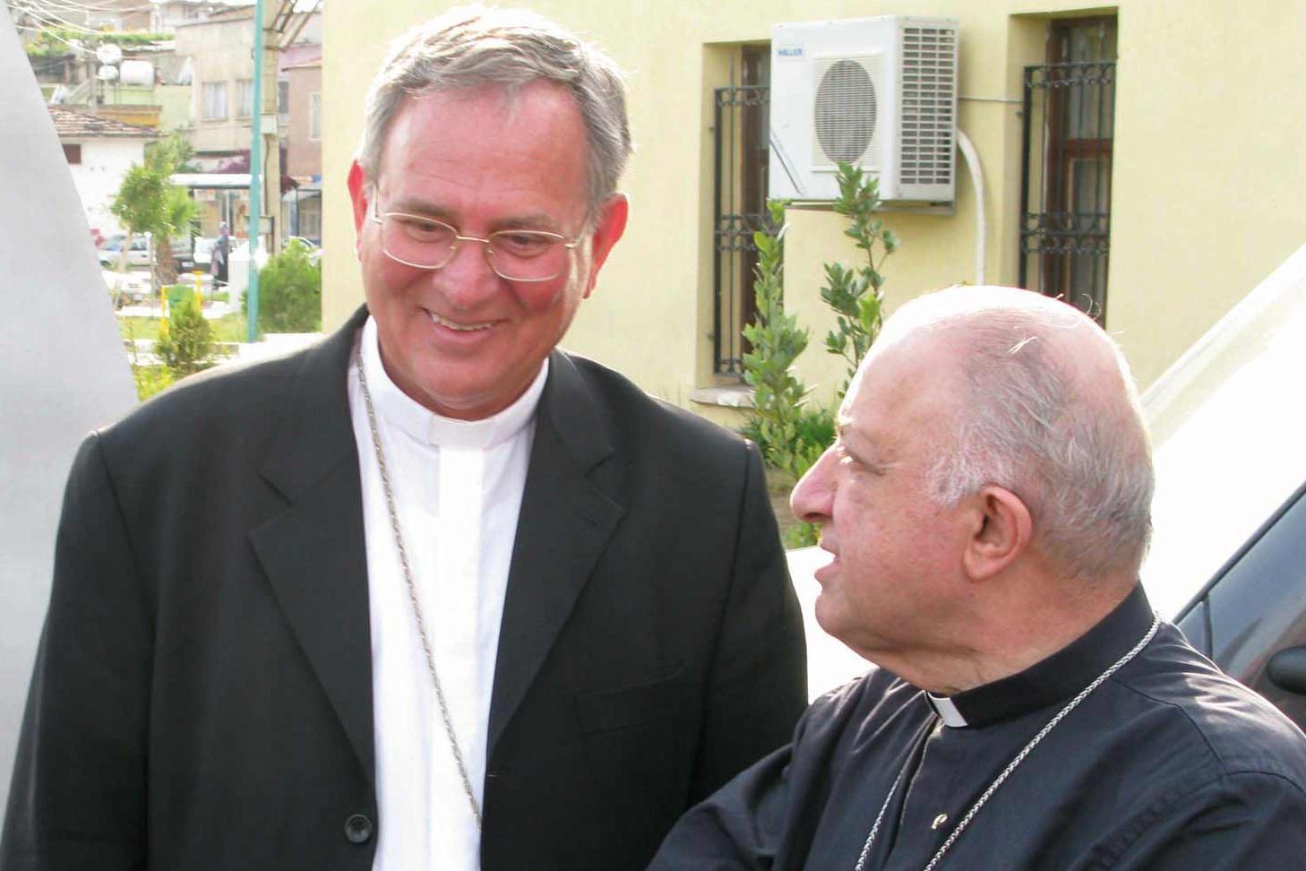 Monsignor Padovese con il cardinale Tettamanzi