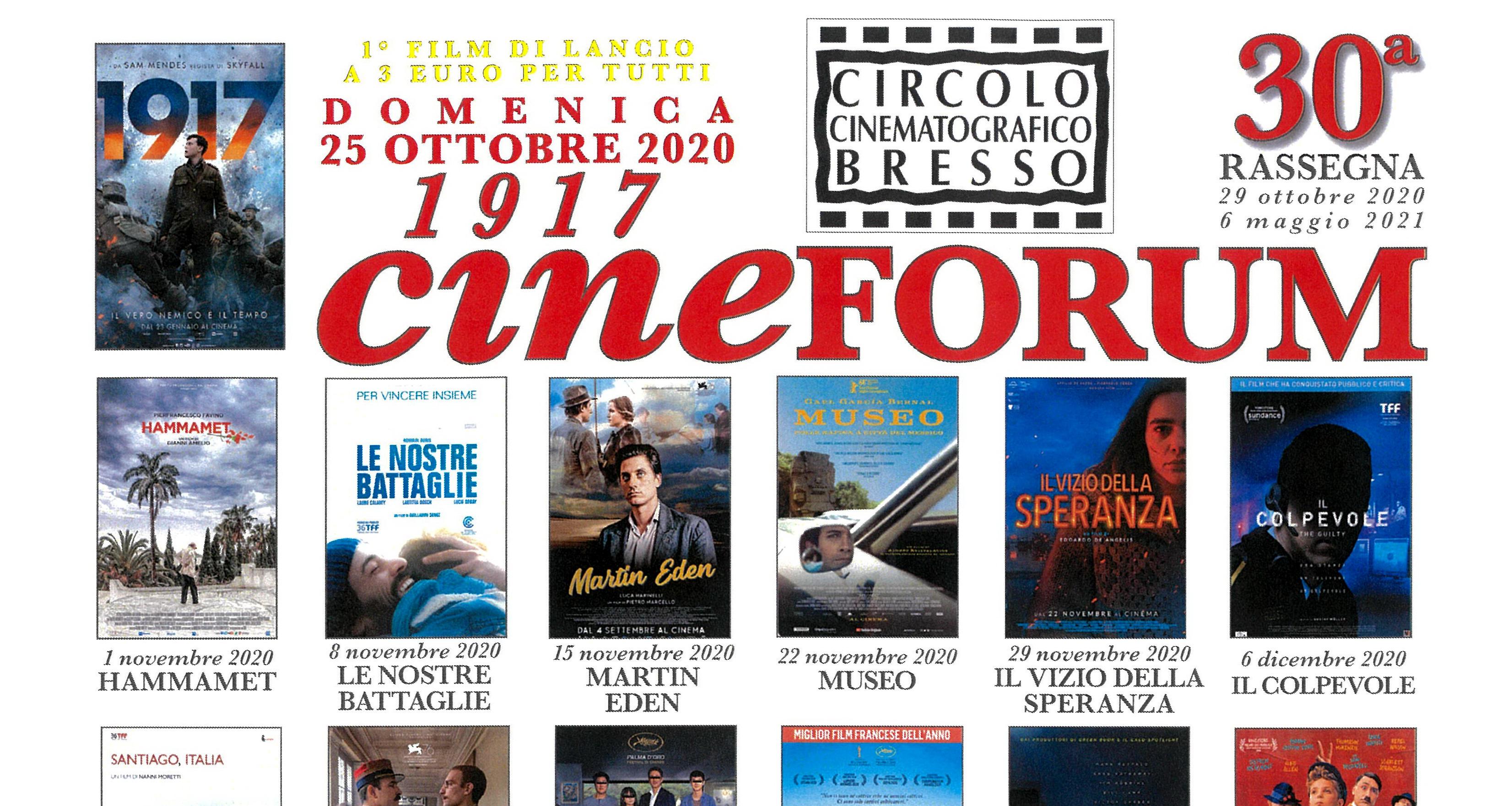 Cinef Bresso 2019-2020 DOMENICA lancio