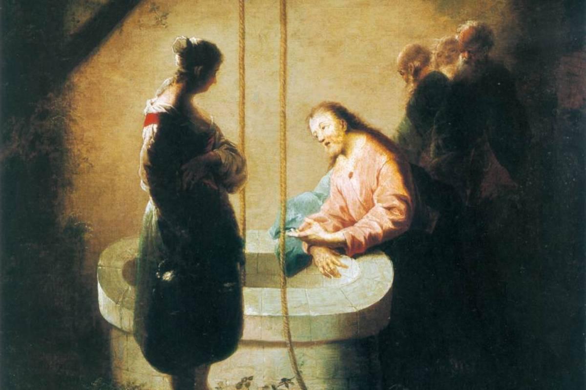 Gesù e la samaritana (1754), di Johann Zick (Christian Museum, Esztergom)