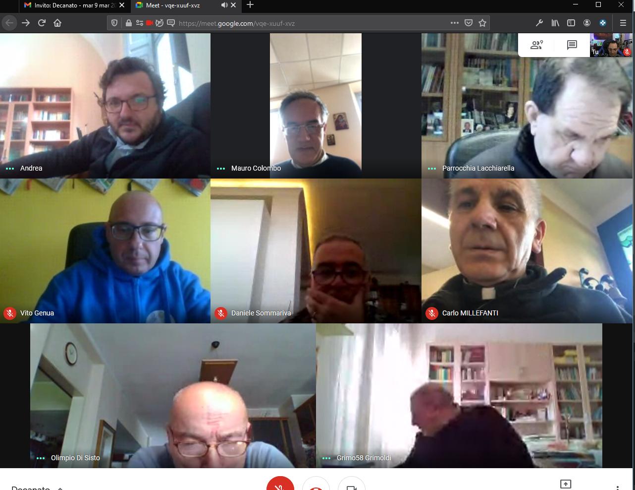 Un incontro online con il clero del Decanato di Melegnano