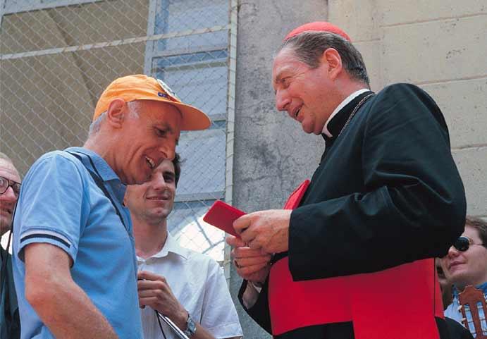 Renzo Maggi con il cardinale Martini