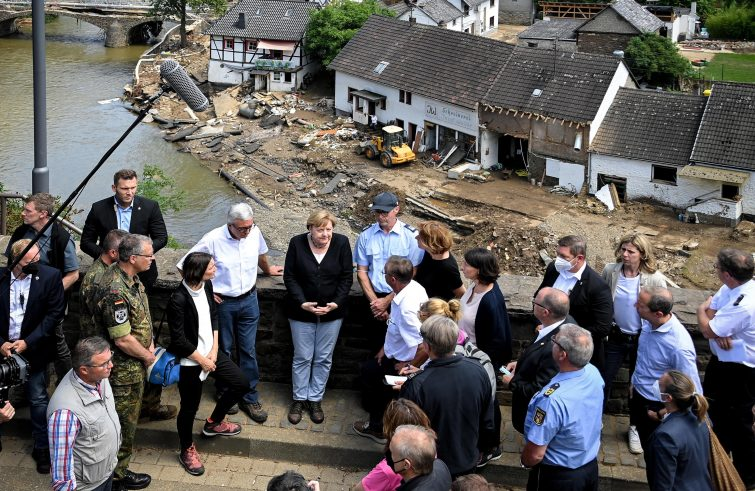 Merkel inondazioni